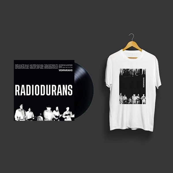 photo du t-shirt noir et blanc et duy 3eme album de von pariahs